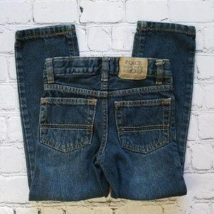 1989 Place Boys Denim Jeans Sz 5 Straight Slim